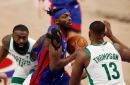 Detroit Pistons burned by Celtics duo in 122-120 loss; Svi Mykhailiuk emerges