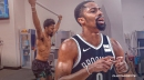 Nets' Spencer Dinwiddie seen rehabbing already one week after partial ACL tear