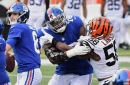 "Giants' OT Andrew Thomas ""running my own race"""