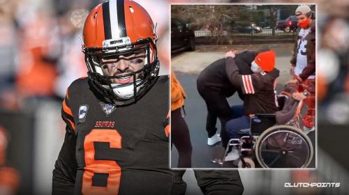 Baker Mayfield, Browns make dream come true for fan battling cancer