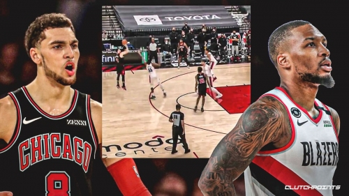 VIDEO: Zach LaVine delivers cold-blooded three to ice Damian Lillard, Blazers