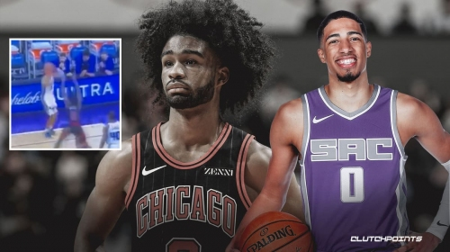 VIDEO: Kings rookie Tyrese Haliburton drills side-step dagger three to spoil Coby White's big night