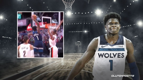 VIDEO: Timberwolves rookie Anthony Edwards skies for monster slam