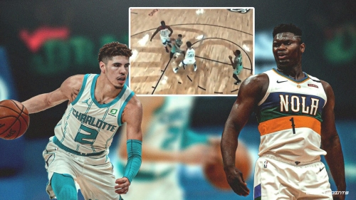 Hornets' LaMelo Ball fools Zion Williamson, Pelicans with smooth euro step