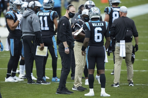 Jets coaching search continues with Panthers offensive coordinator Joe Brady