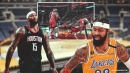 VIDEO: Markieff Morris and DeMarcus Cousins get into shoving match in Lakers-Rockets game