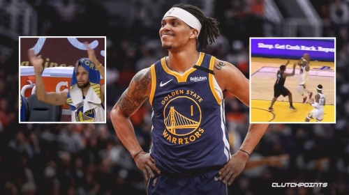 VIDEO: Stephen Curry impressed by Damion Lee's nasty euro step