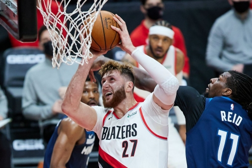 Nurkic Leaves Blazers-Raptors Game with Contusion, Return Questionable
