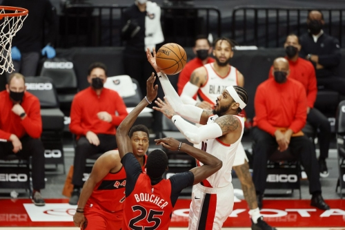 McCollum, Anthony Clutch As Blazers Come From Behind To Defeat Raptors 112-111