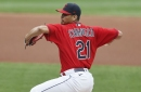 The pitches Carlos Carrasco throws and how hard and often he throws them