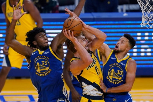 Photos: Pacers visit Steph Curry, Warriors