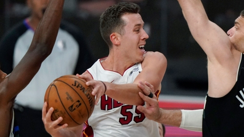 As James Harden situation erupts, Heat's Duncan Robinson rolls with the rumors