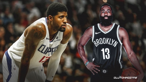 Clippers star Paul George reacts to James Harden Rockets-Nets trade