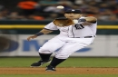 Detroit Tigers' Miguel Cabrera trains at first base after spending 2020 as full-time DH