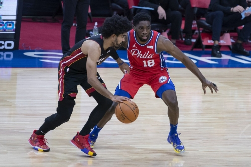 Sixers coast to a victory over undermanned Heat thanks to Milton's 31