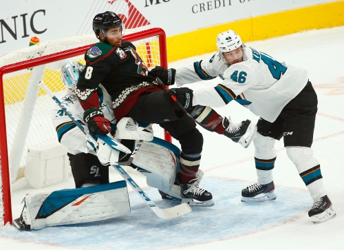 Coyotes force overtime, but fall to Sharks in season opener