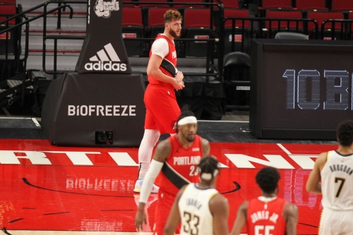 Nurkic Exits with Wrist Injury, Pacers Cruise Past Blazers