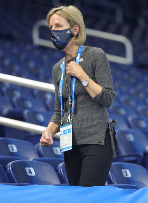 Detroit Lions' Sheila Ford Hamp has a vision. She knows exactly what it sounds like.