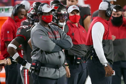 Buccaneers defensive coordinator Todd Bowles interviewing with the Lions