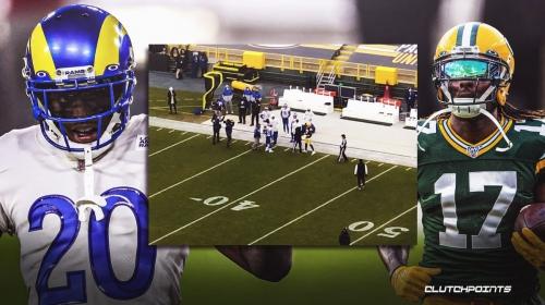 Davante Adams, Jalen Ramsey get into pre-game skirmish, separated before Packers-Rams kickoff