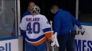 Varlamov forced to miss start after injury during warmup