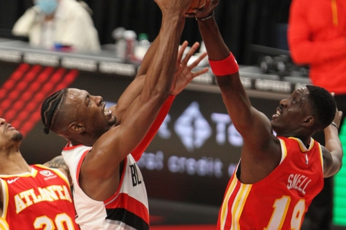 Double-digit lead evaporates as Hawks fall to Blazers, 112-106