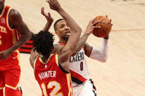 McCollum Injured, but Lillard Scoring Barrage Leads Blazers over Hawks