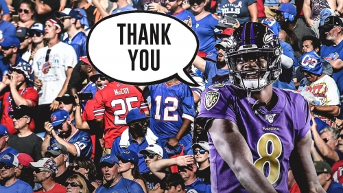 Bills Mafia donates to Lamar Jackson's favorite charity after injury in playoff game