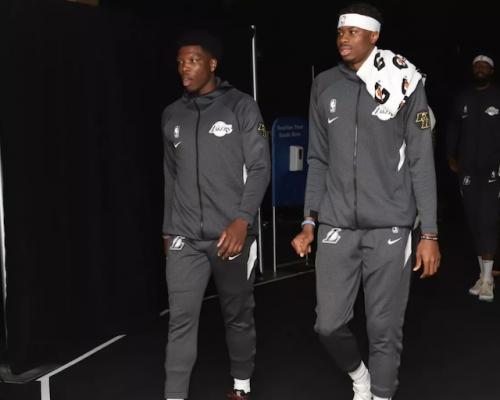 Lakers Carefully Managing Kostas Antetokounmpo, Devontae Cacok