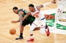 Knicks trounce Celtics, 105-75, in Kemba Walker's return