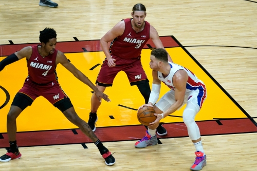 Detroit Pistons Blake Griffin on season-high points and 3-pointers in win vs. Miami Heat