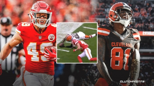 Did Browns get cheated on helmet-to-helmet fumble touchback play vs. Chiefs?
