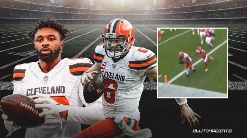 VIDEO: Browns QB Baker Mayfield, Jarvis Landry connect for rallying second-half TD vs. Chiefs
