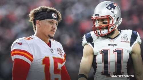 Julian Edelman reacts to Patrick Mahomes' concussion in Chiefs-Browns playoff game