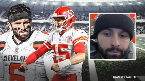 Baker Mayfield reacts to Chiefs eliminating Browns in the playoffs
