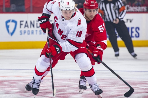 They said it: Brind'Amour, Aho, Dzingel on tonight's matchup with Nashville