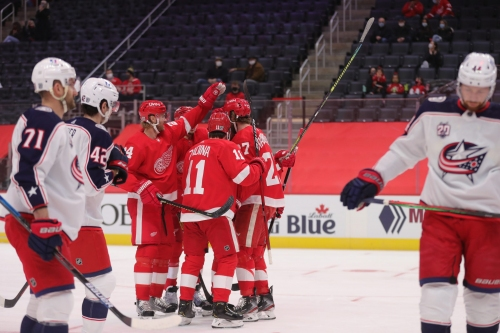 Detroit Red Wings vs. Columbus Blue Jackets: Best photos from LCA
