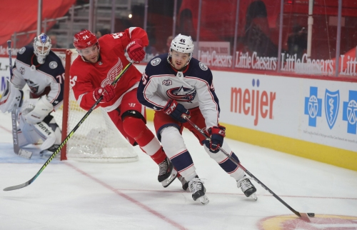 Detroit Red Wings lose to Blue Jackets 3-2: Bobby Ryan scores again, melee in final minute