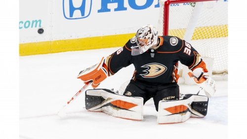 John Gibson posts shutout as Ducks edge Wild in home opener