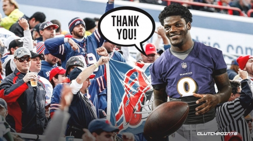 Ravens' Lamar Jackson's wholesome reaction to Bills fans donating to his charity