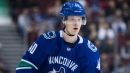 Canucks' Pettersson fined for slash on Flames' Monahan
