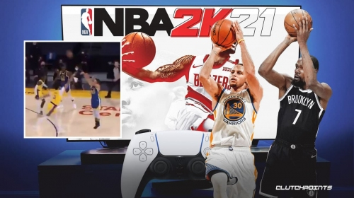 Former Warriors star Kevin Durant's epic 2K-like reaction to Stephen Curry's dagger 3-pointer vs. Lakers