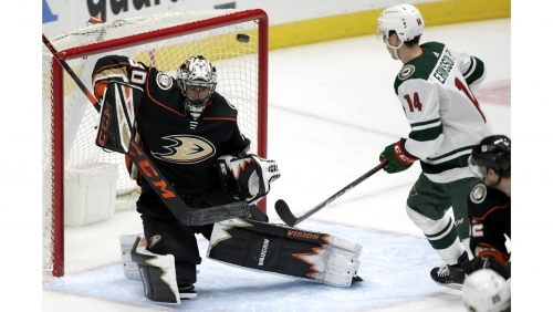 Ducks fail to deliver Ryan Miller enough support in loss to Wild