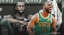 Kemba Walker's 1-word reaction to questions about his knee injury