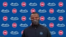 Detroit Pistons coach Dwane Casey reacts to collapse and loss to Atlanta Hawks