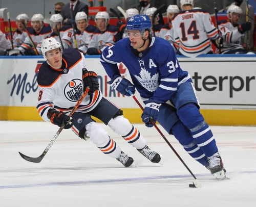 Leafs star Auston Matthews misses practice ahead of rematch with Oilers