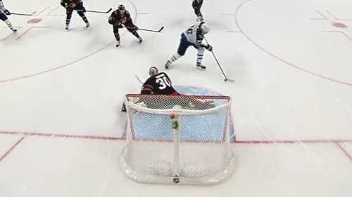 Wheeler finishes off Jets' pretty passing play by deking around Murray