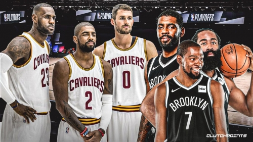Nets' Kyrie Irving reveals what Kevin Durant, James Harden can learn from his Cavs' Big 3 with LeBron James, Kevin Love