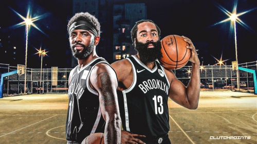 VIDEO: James Harden, Kyrie Irving shift into playground mode for Nets vs. Cavs