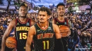 Hawks star Trae Young reacts to Clint Capela's insane block triple-double